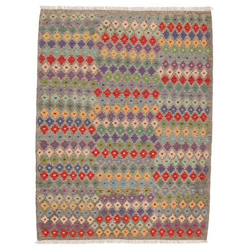 exclusive  Vloerkleed Tapijt Kelim 194x150 cm Kleed Hand Geweven Kilim