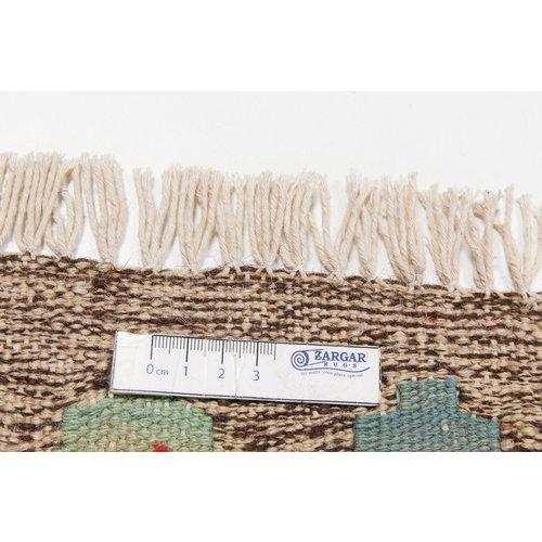 6'36x4'92 Sheep Wool Handwoven Multicolor Geometric Afghan kilim Area Rug Carpet