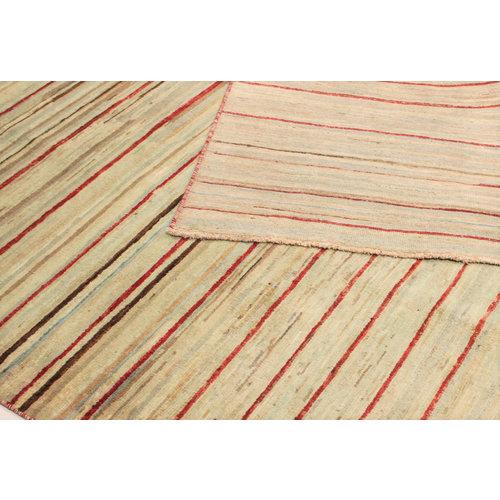 Handgeknoopt Modern stribe tapijt 255x200 cm  oosters kleed vloerkleed