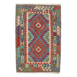 exclusive  Vloerkleed Tapijt Kelim 149x100 cm Kleed Hand Geweven Kilim