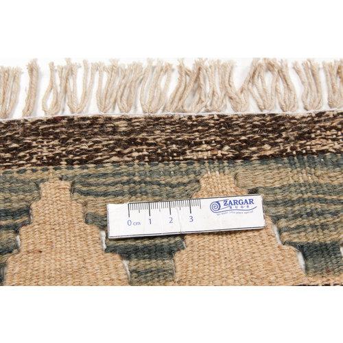 4'75x3'21 Sheep Wool Handwoven Multicolor Traditional Afghan kilim Area Rug