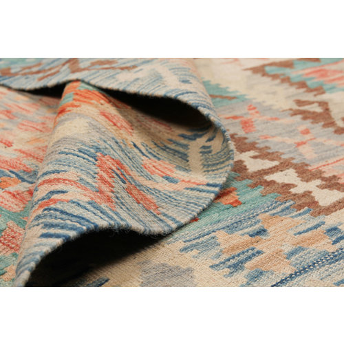 exclusive  Vloerkleed Tapijt Kelim 354x244 cm Kleed Hand Geweven Kilim