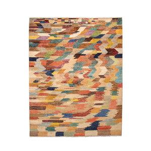 Handgeknüpft Modern  242x193 cm Abstrakt Wolle Teppich