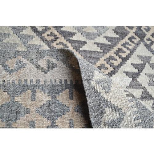Natural Kelim Kleed 202X154 cm Vloerkleed Tapijt Kelim Hand Geweven