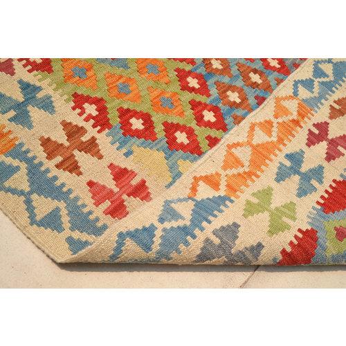 Vloerkleed Tapijt Kelim   207x154 cm Kleed Hand Geweven Kelim