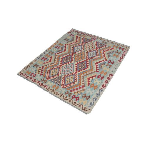 Kelim Kleed 189X155 cm Vloerkleed Tapijt Kelims Hand Geweven