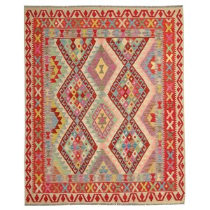 Oriental Hand woven wool kilim Carpet Kilim area Rug 6'62X5'31 multi color