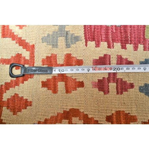 Vloerkleed Tapijt Kelim 201x145 cm Kleed Hand Geweven Kelim