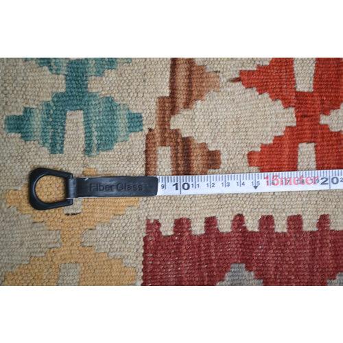 Vloerkleed Tapijt Kelim  200x154  cm Kleed Hand Geweven Kelim