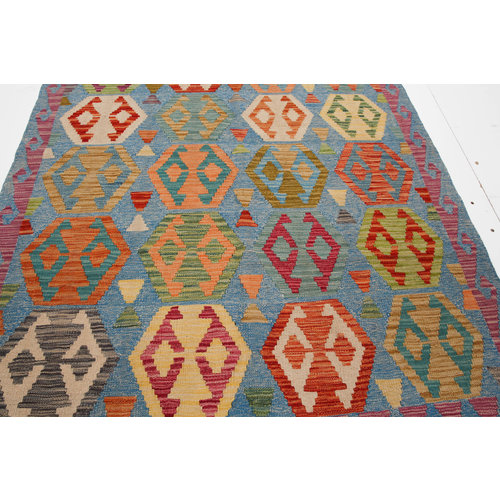 exclusive Kelim Teppich 193x147 cm afghan kilim teppich
