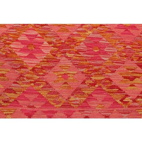 8'10x6'88 Sheep Wool Handwoven Multicolor Traditional Afghan kilim Area Rug