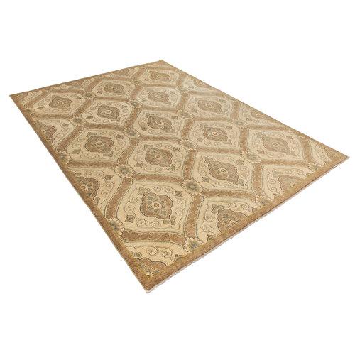 Handgeknoopt Modern ikat tapijt 372x268 cm  oosters kleed vloerkleed