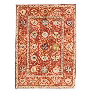 Handgeknoopt Suzani kleed 242x171 cm  oosters tapijt vloerkleed