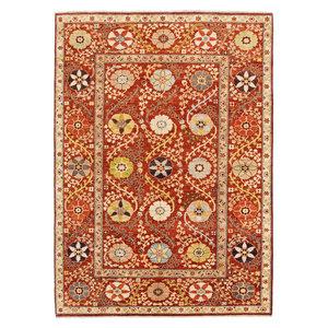Handgeknüpft Suzani Orientalisch Wolle Teppich  243x171 cm