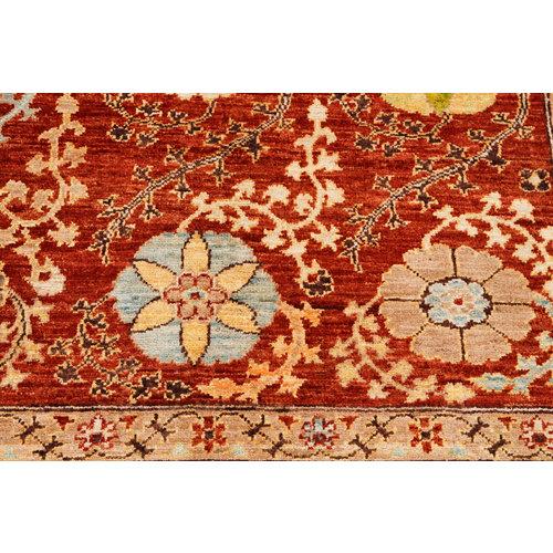 Handgeknoopt Suzani kleed 243x171 cm  oosters tapijt vloerkleed