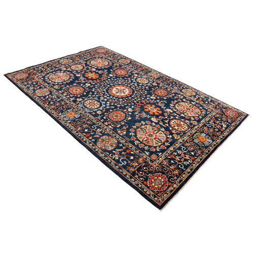 Hand knotted 8'4x5'5 Suzani  Wool Area Rug 256x166 cm  Oriental Carpet