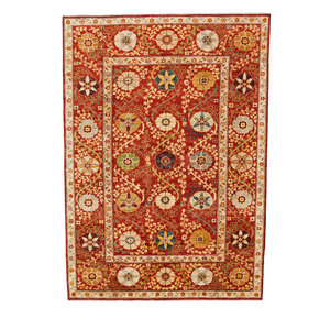 Handgeknoopt Suzani kleed 247x175 cm oosters tapijt vloerkleed