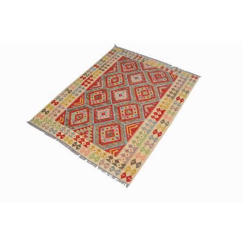 Sheep Quality Wool Hand woven  Afghan kilim Carpet Kilim Rug 6'4x4'9 ft