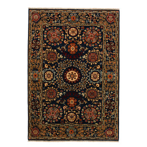 Hand knotted 8'1x5'6 Suzani  Wool Area Rug 248x172 cm Oriental Carpet