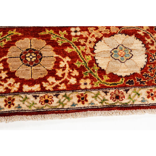 Handgeknoopt Suzani oosters vloerkleed tapijt 243x171 cm kleed