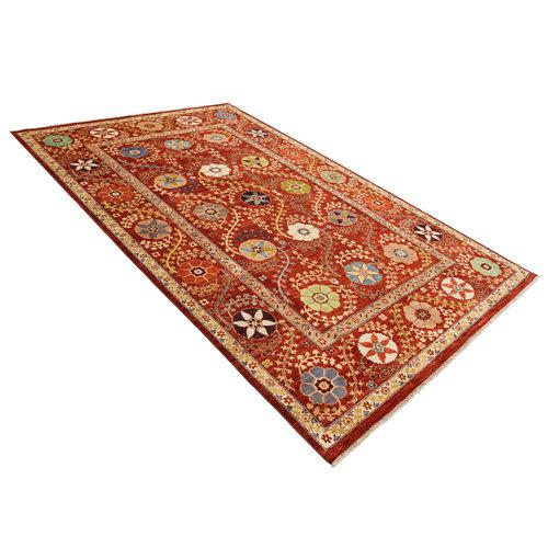 Handgeknoopt Suzani tapijt 303x200 cm  oosters kleed vloerkleed