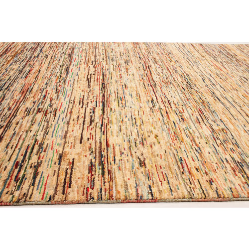 Hand knotted 8'7x6'0 ft Modern Art Ghazny Wool Rug 266x184 cm  Abstract Carpet