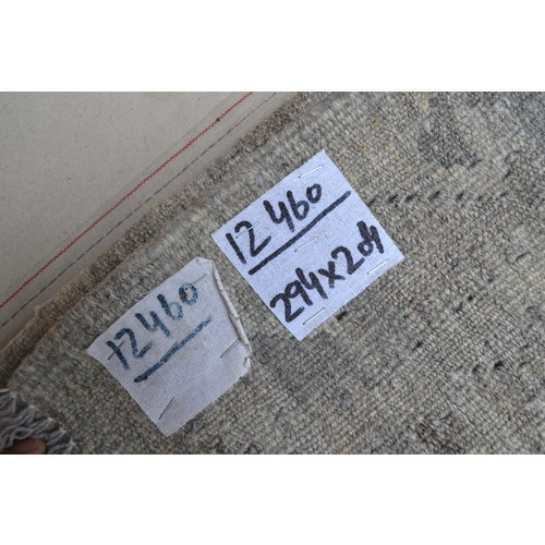 9'65x6'69 Sheep Wool Handwoven Natural Gray colo Afghan kilim Area Rug Carpet
