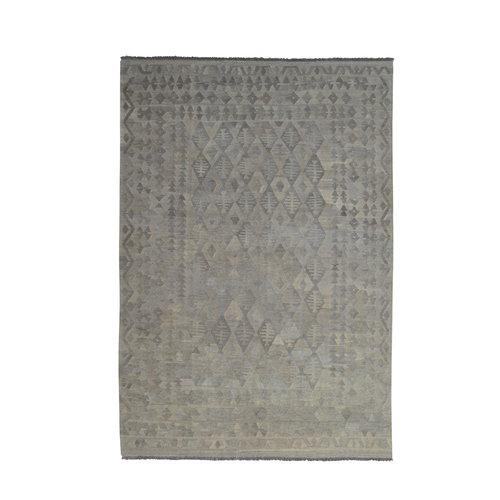 Grau natürlich kelim teppich 292x203 cm afghan kilim teppich