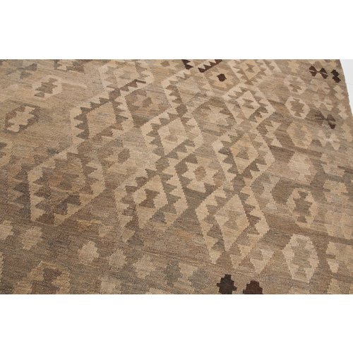 9'81x6'89 Sheep Wool Handwoven Natural color Afghan kilim Area Rug Carpet