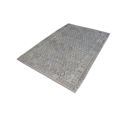 Grau natürlich kelim teppich 304x206 cm afghan kilim teppich