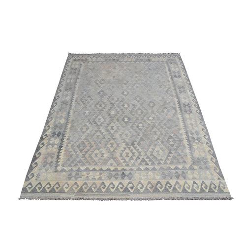 Grau natürlich kelim teppich 294x201 cm afghan kilim teppich