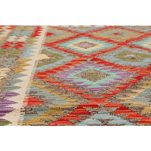 exclusive  Vloerkleed Tapijt Kelim 202x153 cm Kleed Hand Geweven Kilim
