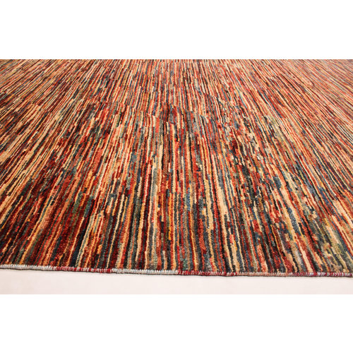 Hand knotted 7'9x6'4 ft Modern Art Ghazny Wool Rug 241x196 cm  Abstract Carpet