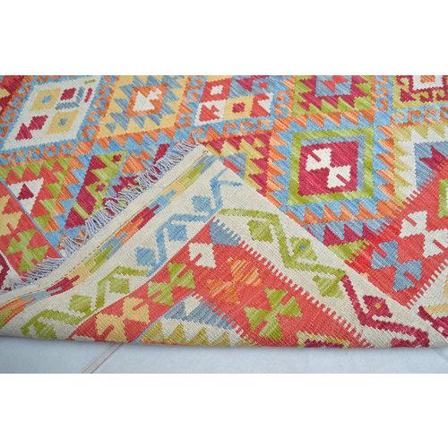 Vloerkleed Tapijt Kelim Kleed Hand Geweven Kelim 194x154  cm
