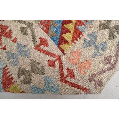 Vloerkleed Tapijt Kelim Kleed Hand Geweven Kelim 191x154 cm