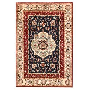 Hand knotted 9'6x6'5 ziegler rug  Heriz Wool Rug 295x200 cm  Serapi Carpet
