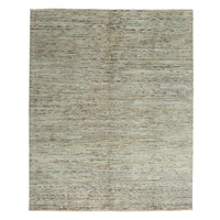 Hand knotted 8'2x6'6 ft Modern Art Sheep Wool Rug 252x204 cm Area rug Carpet