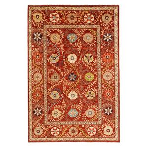 Handgeknüpft Suzani Teppich  294x197 cm Wolle Orientalisch
