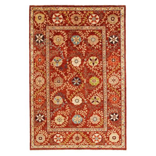 Handgeknoopt Suzani oosters tapijt 294x197 cm  kleed vloerkleed
