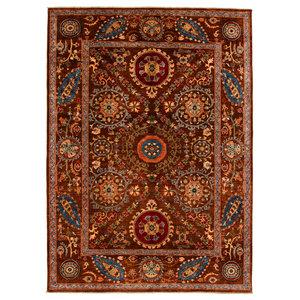 Handgeknüpft Suzani Teppich  278x203 cm Wolle Orientalisch  Teppich