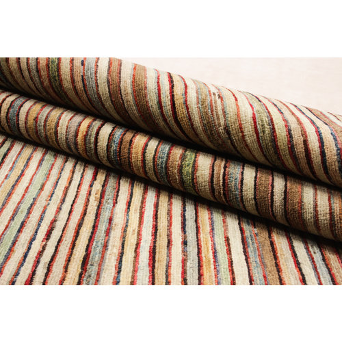 Hand knotted 8'2x6'4 ft Modern Stribe Sheep Wool Rug 252x197 cm Area rug Carpet