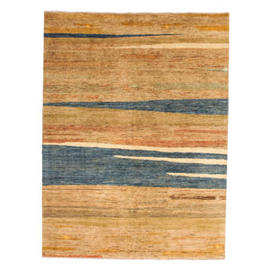 Handgeknüpft Modern Art 256x183 cm Abstrakt Wolle Teppich