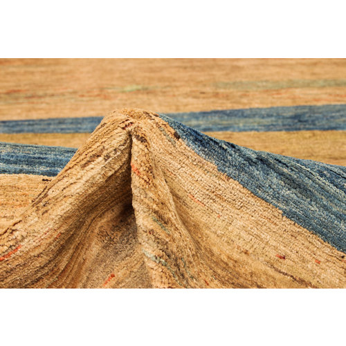 Hand knotted 8'3x6'0 ft Modern Art Sheep Wool Rug 256x183 cm Area rug Carpet