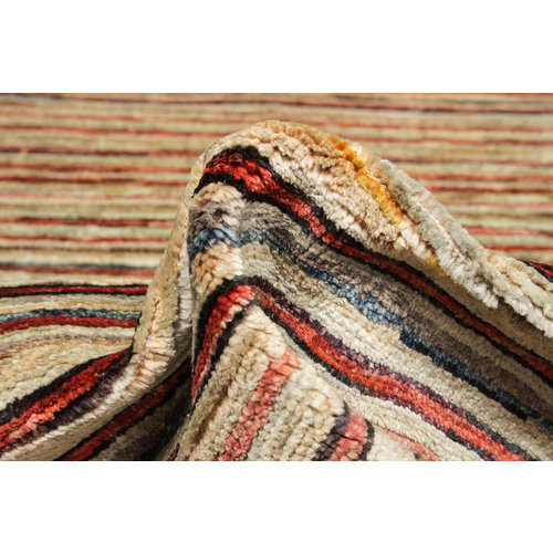 Hand knotted 8'1x6'6 ft Modern Art Sheep Wool Rug 247x202 cm Area rug Carpet