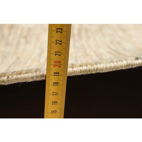 Handgeknoopt Modern Stribe Art tapijt 253x193 cm  oosters kleed vloerkleed