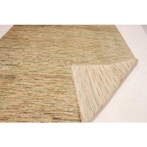 Handgeknoopt Modern Stribe tapijt 257x204 cm  oosters kleed vloerkleed