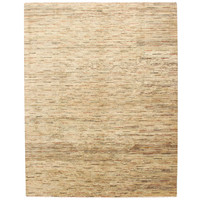 Hand knotted 8'4x6'6 ft Modern Stribe Sheep Wool Rug 257x204 cm Area rug Carpet