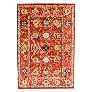 Handgeknüpft Suzani Teppich  301x201 cm Wolle Orientalisch  Teppich