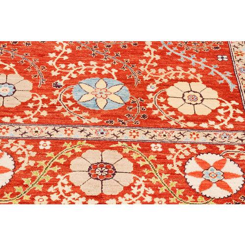 Handgeknoopt Suzani oosters kleed tapijt 301x201 cm  vloerkleed