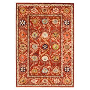 Handgeknoopt Suzani oosters vloerkleed tapijt 293x200 cm kleed